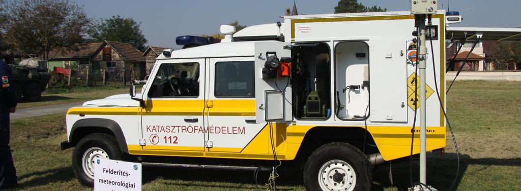 Katasztrófavédelmi Mobil Labor (KML) aloldal fejlécképe