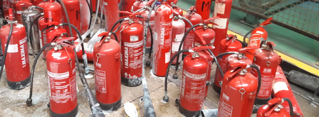 Tűzoltó készülékek karbantartása aloldal fejlécképe