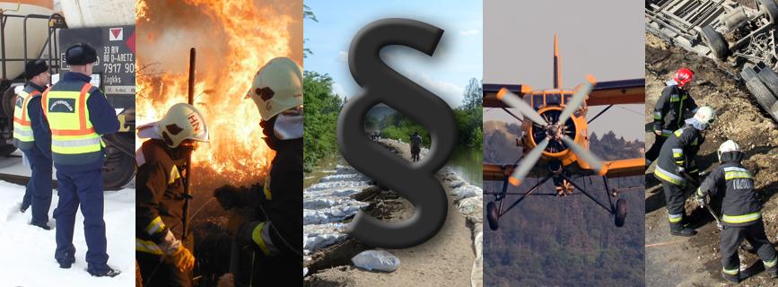 A katasztrófavédelemre vonatkozó alapvető jogszabályok aloldal fejlécképe