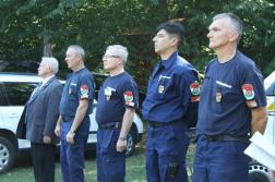 Katasztrófavédelem vezetői a gyakorlat zárásán