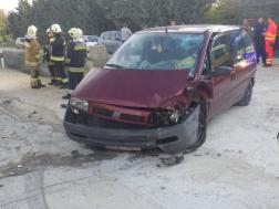 Autó összetört eleje