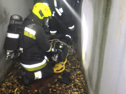 Légzőkészülékben mentenek a tűzoltók